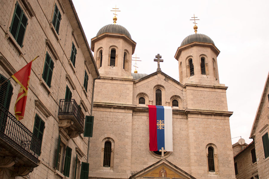 The bell towers of the Serbian Orthodox Church of Saint Nicholas | things to see in Kotor