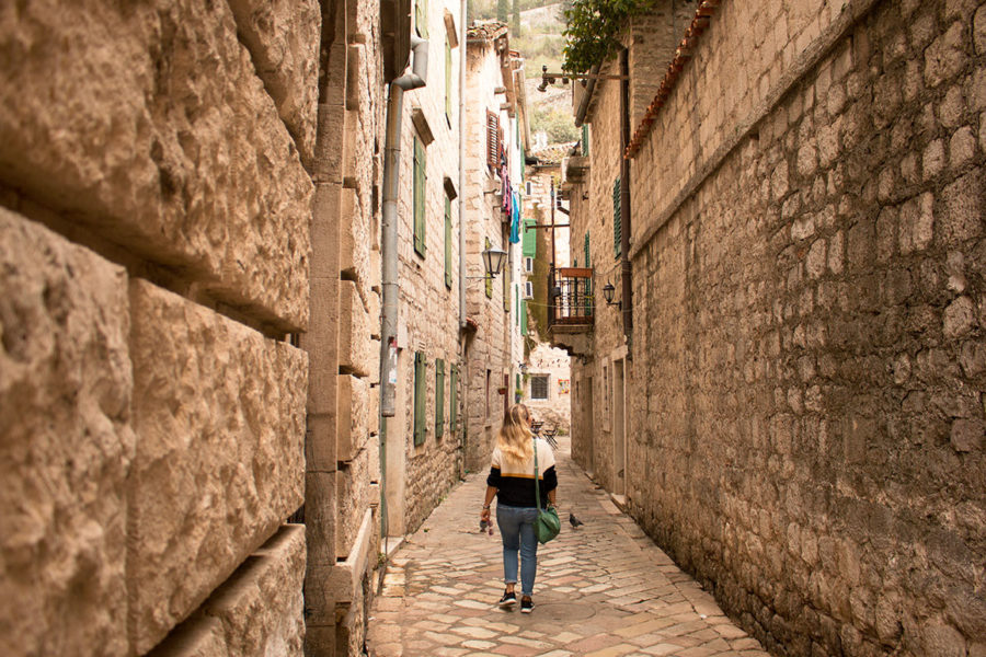 Wandering the quiet streets of Kotor's Old Town | What to do in Kotor Old Town